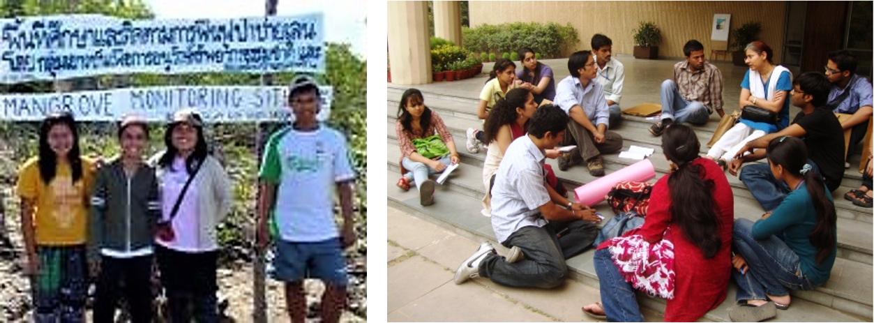 Youth working to protect mangroves in Thailand and youth awareness campaign in India. Source: ANDAMAN DISCOVERIES (2010); SHIMRAY (2010)
