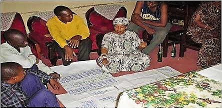 Stakeholders creating a rich picture about water supply in Uganda. Source: BEREKET (2009)