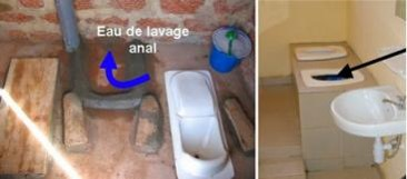 Two examples of separate facilities for anal cleansing. Source: CREPA (2007) and SPUHLER (2007)
