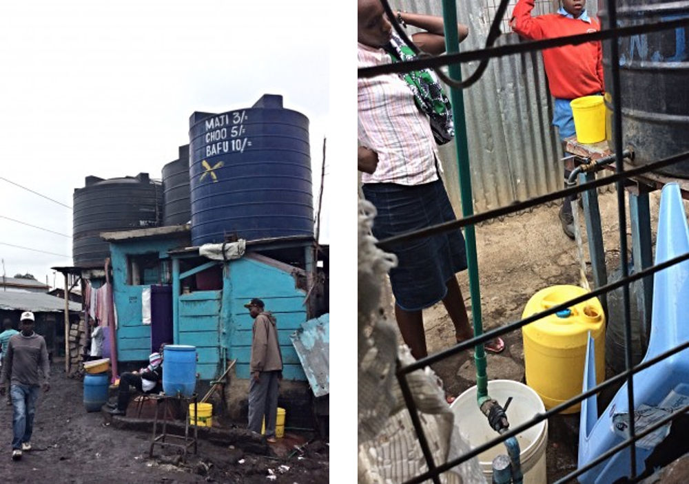 informal water vendors selling jerry cans of water in Nairobi. Source: DOUGLAS (2015)