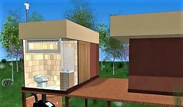Design scheme of a pre-fabricated composting toilet for a cottage housing. Source: ENVIROLET (n.y.).
