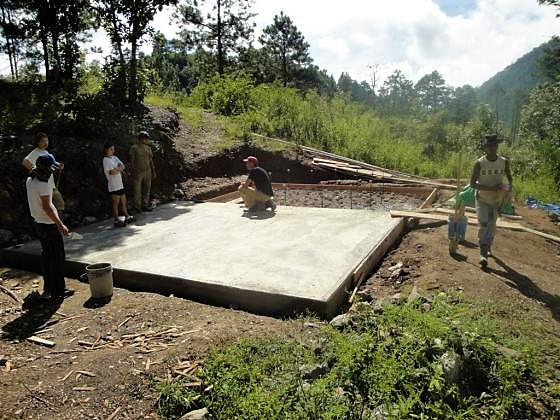Foundation of a slow sand filter. Source: EWB (2010)