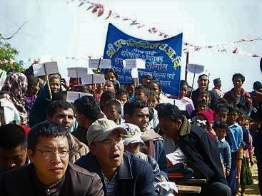 A successful school campaign in Nepal, where the family and wider community were involved into the programme. On this day, the school became an award for its leadership in making the village open defecation free. Source: KROPAC (2009)