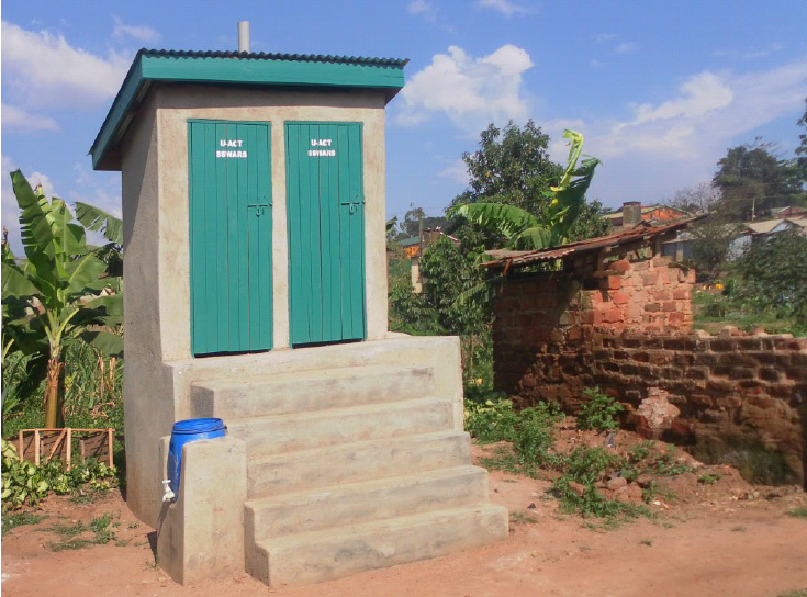 Raised double VIP in a slum area of Kampala, Uganda. Source: LUETHI et al. (2013)