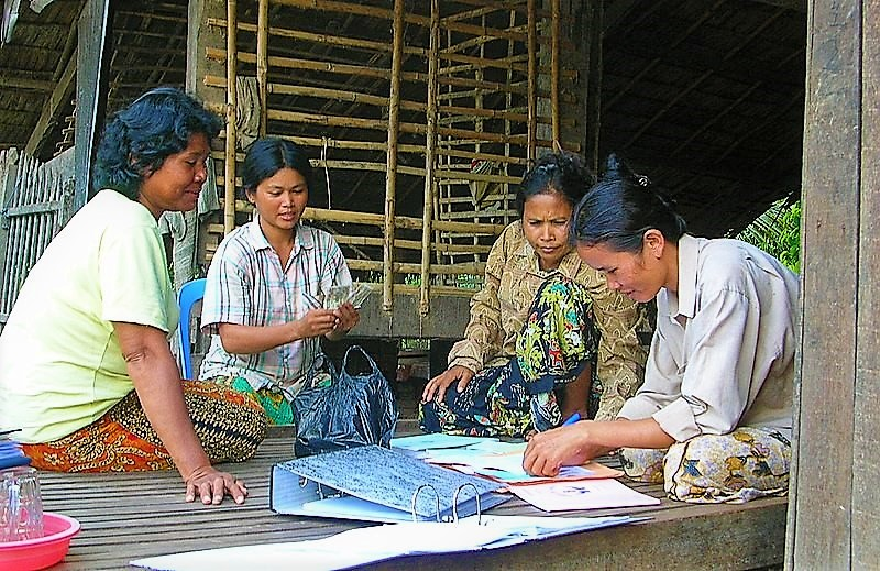Community-based savings bank in Cambodia. Source: MATTHEWS (2004)