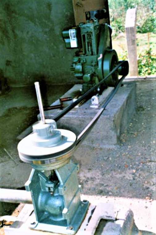 Progressive cavity pump driven by a diesel engine in Eritrea. Source: MONTANEGRO et al. (2010)