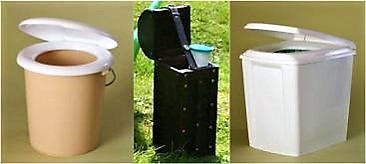 Simple systems for the separate collection of urine and faeces (left and right: Berger Biotechnik GmbH). Source: OTTERPOHL (n.y. a)