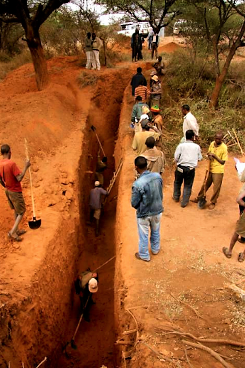 People excavating a trench. Source: RAIN (n.y.)