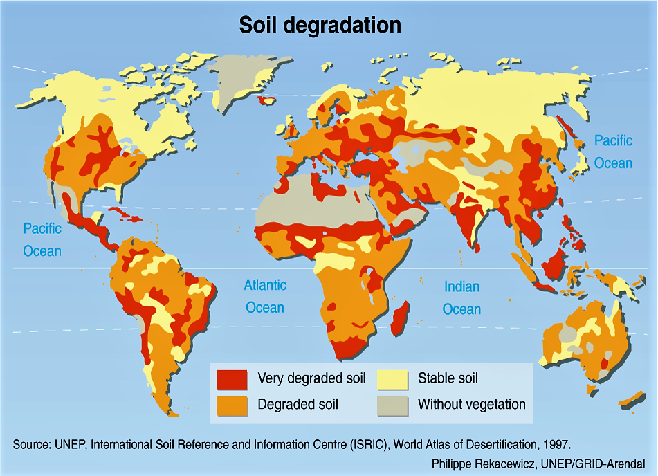 Degraded Soils. Source: REKACEWICZ (2002)