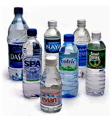 Various brands of bottled water. Source: SDWF (n.y.)