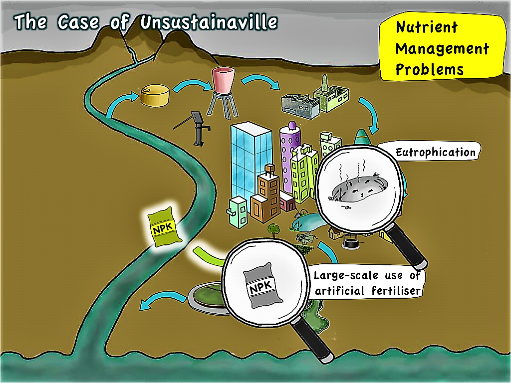 Unsustainaville - Problems with Nutrient Management. Source: SEECON (2010)