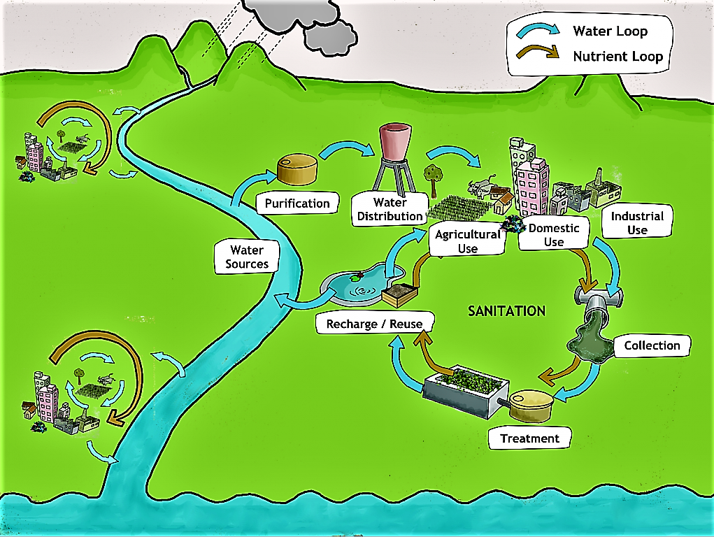 Idealised Water and Nutrient Loop. Source: SEECON (2010)