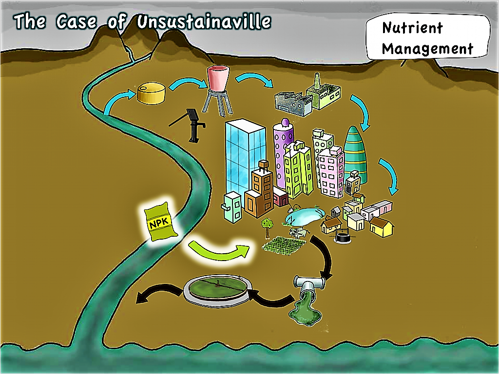 Unsustainaville - Nutrient Management. Source: SEECON (2010)