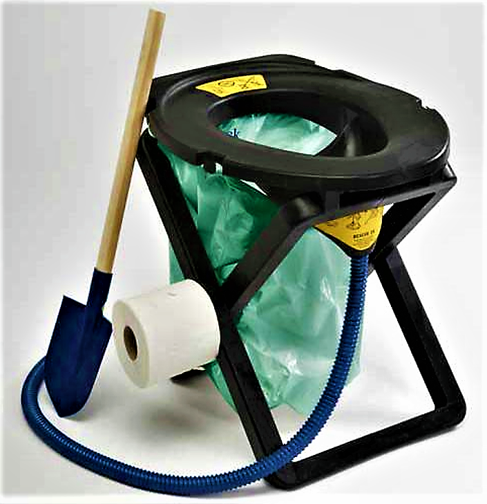 "This urine diverting emergency toilet kit uses biodegradable plastic bags and weighs 4 kilograms. By diverting, urine handling becomes easier. Many similar solutions for ""sitters"" (opposed to ""squatters"") can be applied, if available. Source: SEPARETT (2011)"