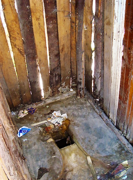 A big problem is the cleanliness of (shared) pit latrines. This increases insect breeding, bad odours and endangers the health of the users. Source: SuSanA (2010)