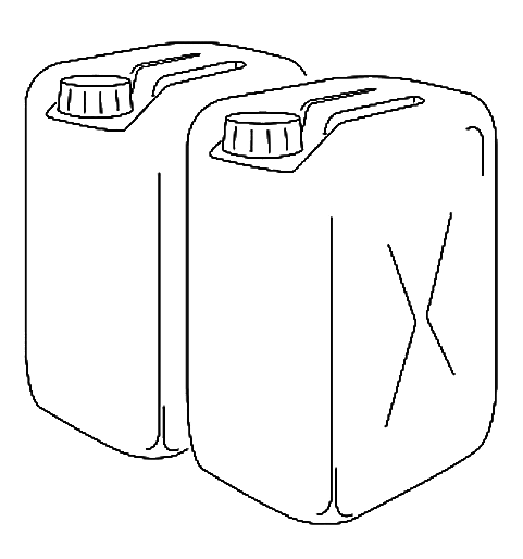 Schematic of the jerrycan / tank. Source: TILLEY et al (2014)