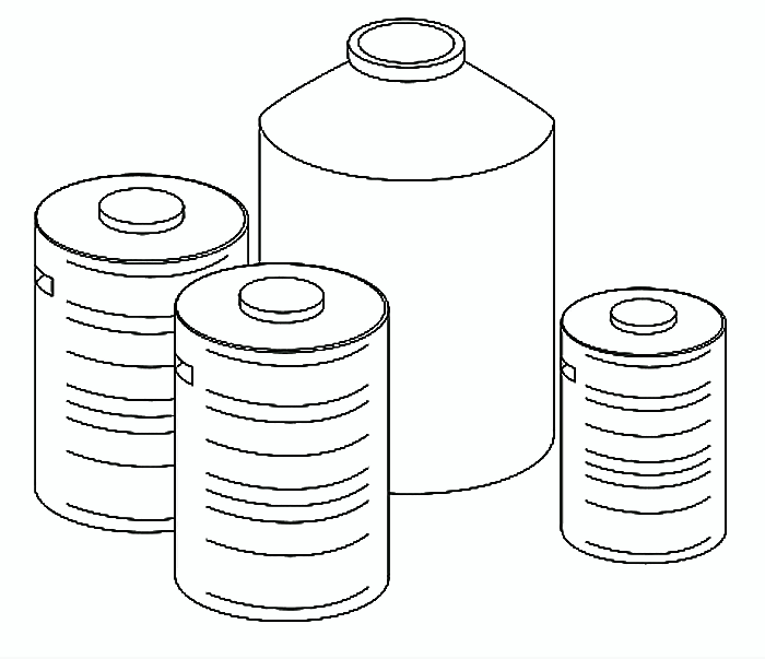 Schematic of the urine storage tank. Source: TILLEY et al. (2014)