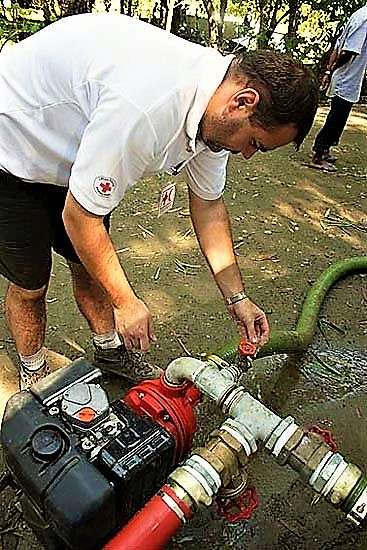 Training on operation of water and sanitation equipment. Source: UNKNOWN (n.y.)
