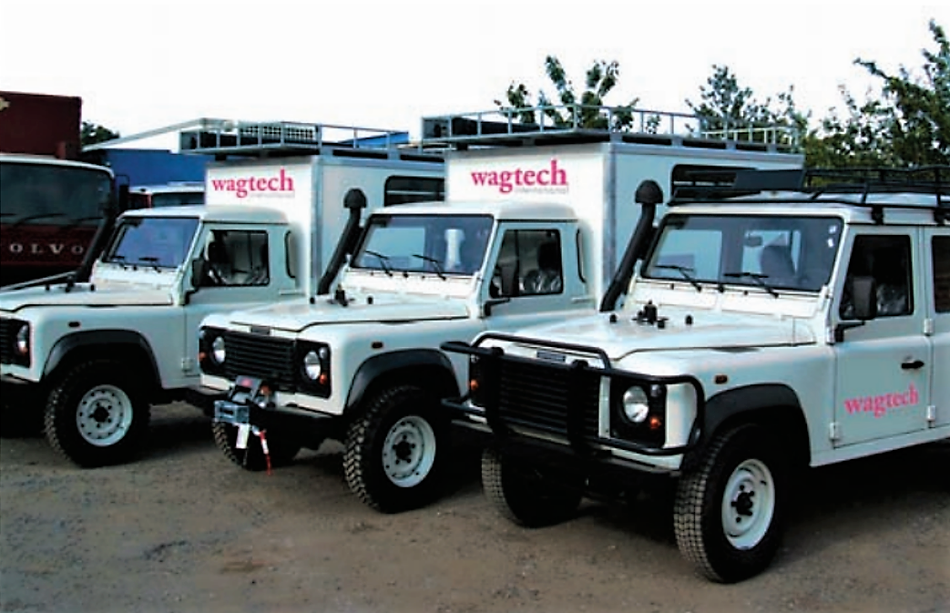 These durable 4-wheel vehicles can be equipped with numerous applications, e.g. water & environmental monitoring, materials testing or health clinics. Source: WAGTECH (n.y.)