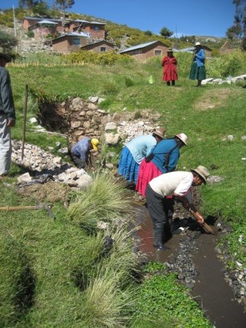 Spring catchment in Parina, Peru