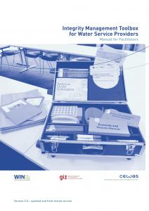 Integrity Management for Water Service Providers Utilities Facilitator Guide