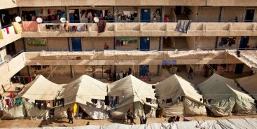 Al-Rameh collective shelter, Jaramana, Syria. Source: C. ALFARAH/UNRWA (2013), taken from UNRWA (2016)