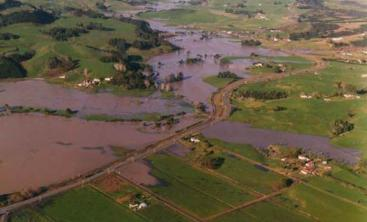 Flooded agricultural land after a storm event. Source: ARC (2010)