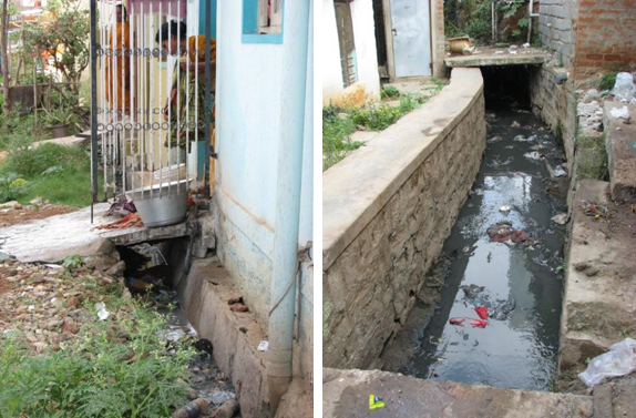 Open channels and drains sswm for Waste drainage system