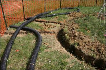 Groundwater recharge in trenches. Source: BATES (2004)