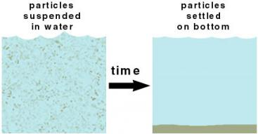 Sedimentation Process. Source: CASIDAY et al. (1999)