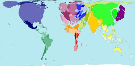 Map of world's industrial consumption worldwide. Source: GOFFMAN (2007)