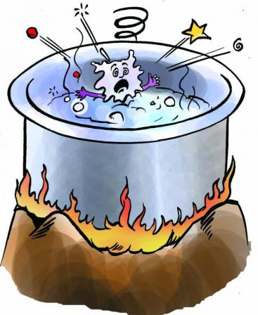 Boiling disinfecting drinking water. Source: ENPHO (2007)