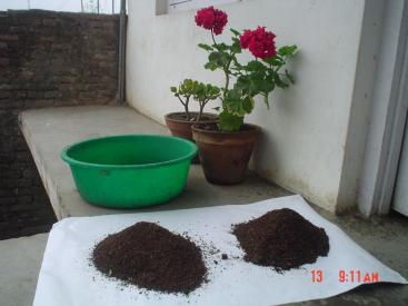 Vermi-compost, ready to use. Source: ENPHO