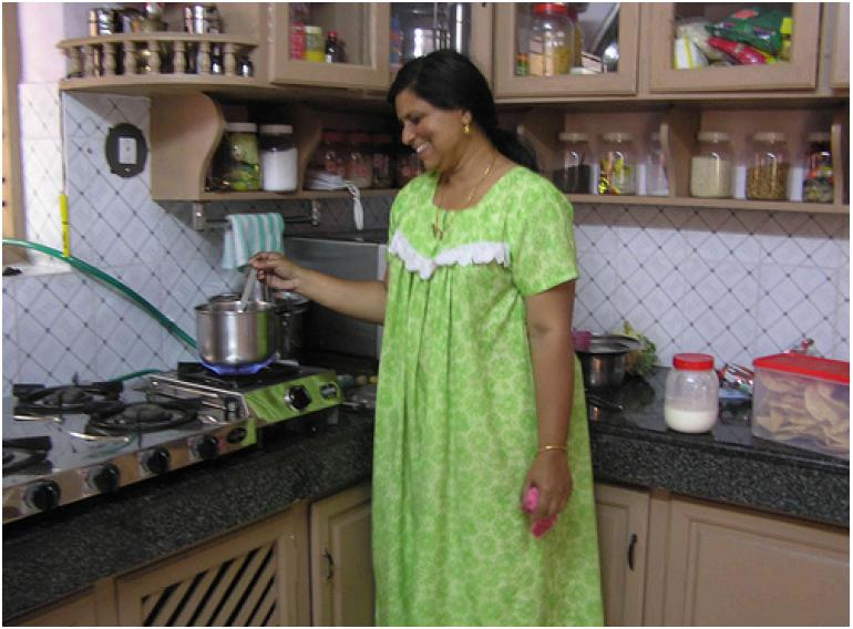 Direct use of biogas sswm for Indian style kitchen room