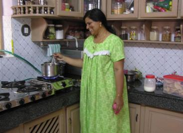 Biogas stove in kitchen used in India. Source: FULFORD 2008