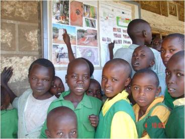 Ecological sanitation (Ecosan) education at Plant Kaurine Primary School (Maua District) in 2009. Source: GTZecosan