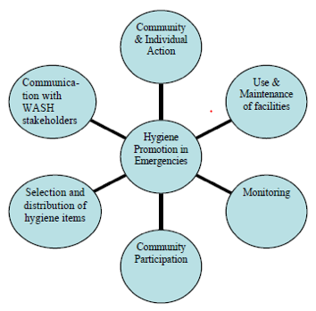 Components of a hygiene promotion campaign. Source: GWC (2009).