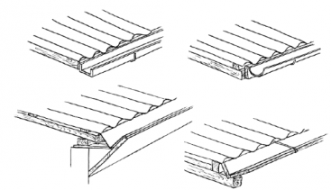 A variety of guttering types. Source: HATUM & WORM (2006)