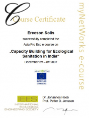 IEES 2007 Course Certificate