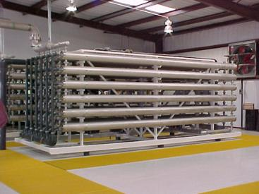 Water treatment plant using reverse osmosis for desalination. Source: KRISHNA et al. (2004)