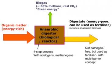 Overview scheme of biogas sanitation systems. Source: MUENCH (2008)