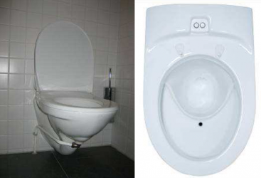 Left: UD flush toilet (Gustavsberg Nordic, Sweden). Right: UD vacuum toilet (Wost Man Ecology, Sweden). Source: MUENCH (2010)