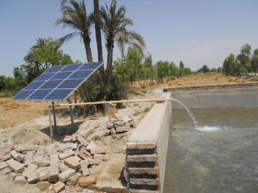 Solar water pump in operation. Source: NE (n.y.)