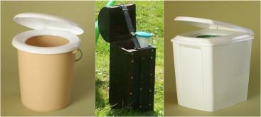 Simple systems for the separate collection of urine and faeces. Source: OTTERPOHL (n.y. a)