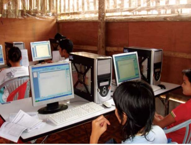 In Mae Le Camp in Thailand, computer classes are provided to Burmese refugee youth to prevent risky coping mechanisms and to build their capacities. Source: ROBINSON AND ALPAR (2009).