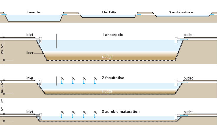 Waste stabilisation ponds sswm for Design of waste stabilization pond systems a review