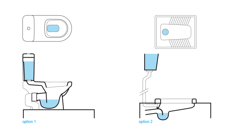 Schematic Of Two Different Cistern Flush Toilets