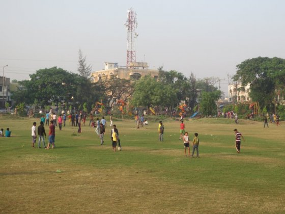Leisure activities in Dayanand Park in Nagpur. Source: UPC 2014
