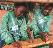 Hand washing by means of plastic bottles. Source: US AID (2009)
