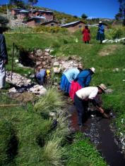 Spring catchment in Parina, Peru. Source: WATER CHARITY (n.y.)